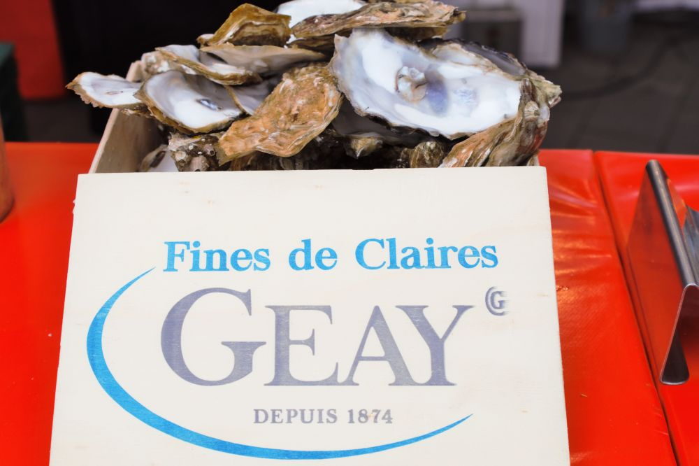 Französischer Markt Neuss - Austern Fines de Claires